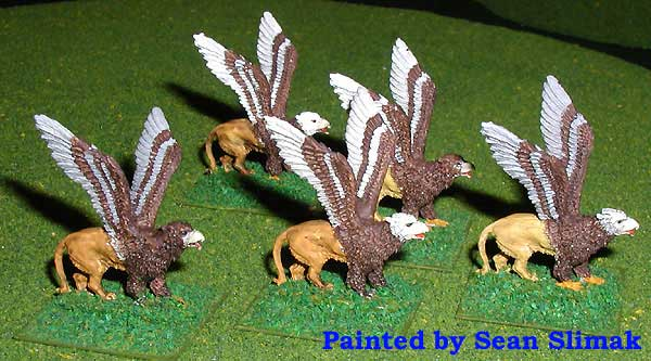 Armies of Arcana Painted Griffins