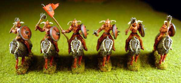 Armies of Arcana Painted Chaos Knights on mounts